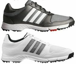 Adidas Tech Response 4.0 Golf Shoes Mens  New - Metallic/Whi