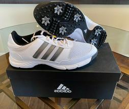 Adidas Tech Response Men's Golf Shoes Spikes White Gray Blac