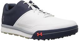 Under Armour Men's Tempo Hybrid 2 Golf Shoe, White /Academy,