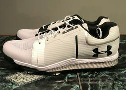 Under Armour Tempo Sport Men's SIZE 8.5 Golf Shoes White Sil