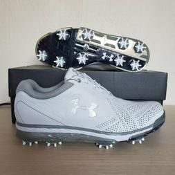 Under Armour Tempo Tour Golf Shoes White Gray Leather Spieth