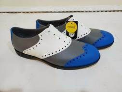 Biion The Wingtips Golf Shoes Mens size 9m Blue Qhite Grey l