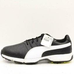 Puma Titantour Cleated Jr. Boys Golf Shoes Size 4 Black Neon