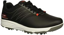 Skechers Men's Torque Waterproof Golf Shoe, Black/red, 10 W