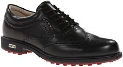 ECCO Men's Tour Hybrid Wing Tip Golf Shoe,Black,45 EU/11-11.
