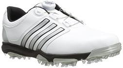 adidas Men's Tour360 X BOA Golf Shoe, FTW White/Silver Metal