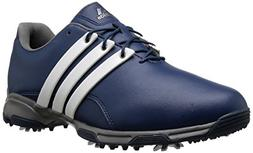 adidas Men's Pure TRX Golf Shoe, Mineral Blue/FTWR White/Iro