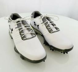 Under Armour UA Match Play 'White' Grey Golf Shoes  Men's Sz