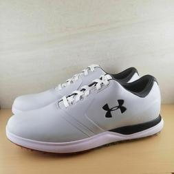 Under Armour UA Performance SL Mens Golf Shoes Grey/White/Bl