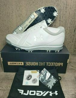 Under Armour UA TEMPO TOUR Golf Shoes Metallic 1270205-101 M