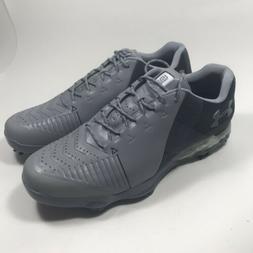Under Men's Armour UA Spieth 2 Golf Shoes Gray Black Size