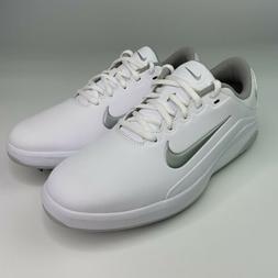 Nike Vapor Spikeless Mens Golf Shoes Size 7.5 White Metallic