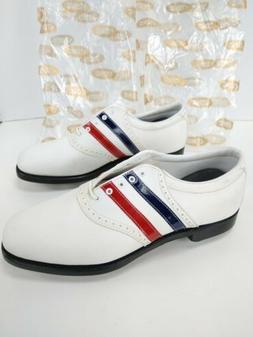 Vintage Etonic Golf Shoes Mens Sz 10 Leather Striped PGA Tou