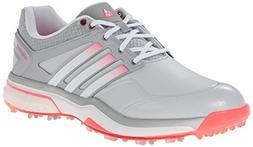 adidas Women's W Adipower Boost Golf Shoe, Clear Grey/Runnin