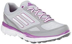 adidas Women's W Adizero Sport III Golf Shoe, Clear Onix/Run