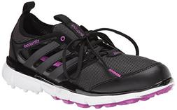 adidas Women's W Climacool II Golf Shoe, Core Black/Iron Met