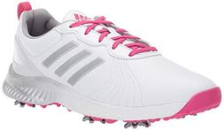 adidas Women's W Response Bounce Golf Shoe, White/Magenta/Si