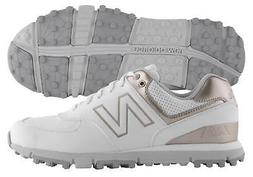 New Balance Women's 574 SL Golf Shoes NBGW574WRG White/Rose