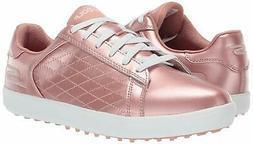 Skechers Women's Drive 4 Spikeless Waterproof Golf Shoe, Ros
