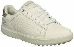 Skechers Women's Drive 4 Spikeless Waterproof Golf Shoe, Whi