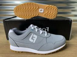 Women's FootJoy FJ Sport Retro Golf Shoes Gray White SZ  NEW