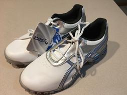 "ASICS Women's ""Gel-Linkmaster"" White/Silver/Blue Golf Shoes"