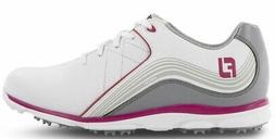 FootJoy Women's Pro SL Golf Shoes 98101 White/Grey/Pink Ladi