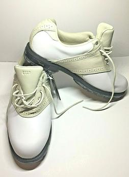 New Balance Womens Golf Leather Saddle Shoes Absorb Heel Whi