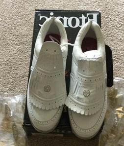 Women's Etonic Golf Shoe 8M White With Cleats NWB