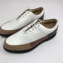FOOTJOY Womens Golf Shoes Europa Collection White Tan Brown