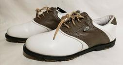 Womens Ashworth Leather White Brown Golf Shoes 8 M Style # 8