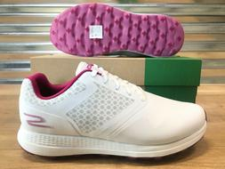Womens Skechers Max Golf Shoes White Purple SZ Wide