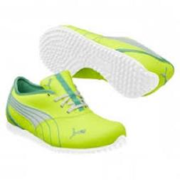 PUMA WOMENS MONOLITE GOLF SHOES FLUO YELLOW/ELECTRIC GREEN S