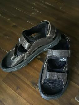 Bite X-GOLF Leather Golf Sandals Men's Size 10 Black Brown