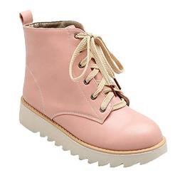 XoiuSyi Womens Light Color High-Top Sports Sneakers Casual S